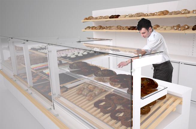 System mebli ekspozycyjnych dla sieci Piekarni Ciastkarni Kłos