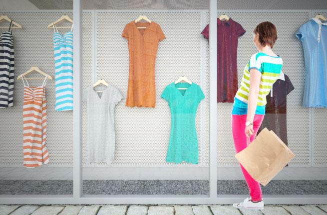 System ekspozycyjny dla witryn sklepowych